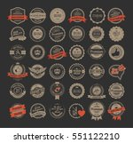 vintage labels and logotypes... | Shutterstock .eps vector #551122210