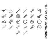 fresh bicycle part icons. more... | Shutterstock .eps vector #551123446