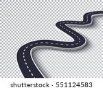 winding road isolated... | Shutterstock .eps vector #551124583