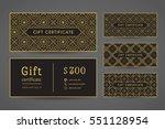 vintage ornamental gift...   Shutterstock .eps vector #551128954