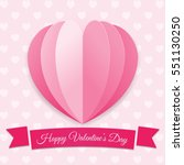 valentine's day background.... | Shutterstock .eps vector #551130250
