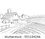 farm field graphic black white... | Shutterstock .eps vector #551134246