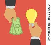 buying ideas concept. hand... | Shutterstock .eps vector #551134330