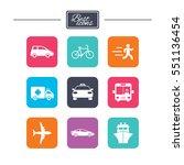 transport icons. car  bike  bus ...   Shutterstock .eps vector #551136454