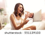 picture showing woman with... | Shutterstock . vector #551139103