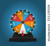 color lucky wheel template.... | Shutterstock .eps vector #551139334