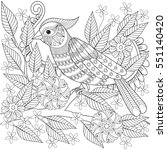 adult anti stress coloring page ... | Shutterstock .eps vector #551140420