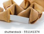 fortune cookie on white...   Shutterstock . vector #551141374