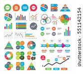 business charts. growth graph.... | Shutterstock .eps vector #551142154