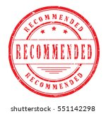 "rubber stamp ""recommended"" on... 