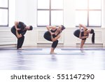 group of young people doing... | Shutterstock . vector #551147290