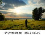 man fascinated by the mystical... | Shutterstock . vector #551148193