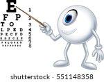 cartoon eye ball optician...   Shutterstock . vector #551148358