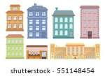Set Of Colored Houses ...