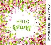 hello spring lettering design.... | Shutterstock .eps vector #551149930