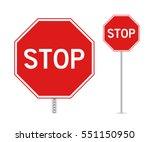 stop sign | Shutterstock .eps vector #551150950