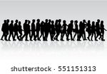 group of people. crowd of... | Shutterstock .eps vector #551151313
