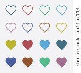 heart shape color line icon