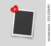 realistic photo frame with... | Shutterstock .eps vector #551155690