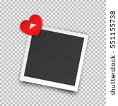 realistic square photo frame... | Shutterstock .eps vector #551155738