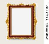 vintage gold picture  frame  | Shutterstock .eps vector #551157454