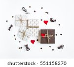 handmade gifts on white... | Shutterstock . vector #551158270