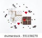 handmade gifts on white... | Shutterstock . vector #551158270