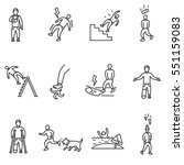 accident icons set. cases of... | Shutterstock .eps vector #551159083