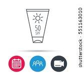 sun cream container icon. beach ... | Shutterstock .eps vector #551163010