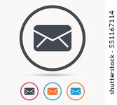 envelope icon. send email... | Shutterstock .eps vector #551167114