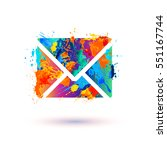 envelope icon. message sign | Shutterstock .eps vector #551167744