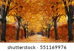 Autumn Alley.  Oil Painting...