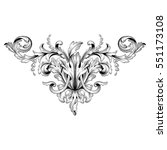 vintage baroque ornament retro... | Shutterstock .eps vector #551173108