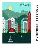 los andgeles city. california.... | Shutterstock .eps vector #551173198