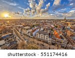 aerial view over historic part... | Shutterstock . vector #551174416