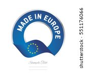made in europe flag blue color... | Shutterstock .eps vector #551176066