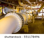 pipelines on oil and gas... | Shutterstock . vector #551178496