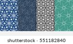 set of color decorative floral... | Shutterstock .eps vector #551182840