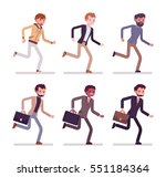 running men in casual wear and... | Shutterstock .eps vector #551184364