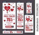 cosmetics sale banners vector ... | Shutterstock .eps vector #551186290