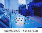 hydroelectric power plant panel ... | Shutterstock . vector #551187160