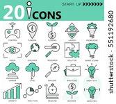 outline web icon set   start up ... | Shutterstock .eps vector #551192680