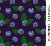 Blueberry Vector Seamless...