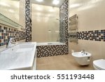 bathroom with a beautiful... | Shutterstock . vector #551193448