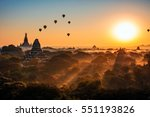 Bagan Sunrise In Background...