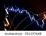 charts of financial instruments ... | Shutterstock . vector #551197648