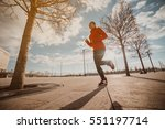 never give up and keep moving ... | Shutterstock . vector #551197714