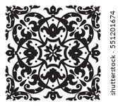 oriental decorative element.... | Shutterstock .eps vector #551201674