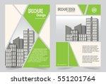 green brochure template flyer...   Shutterstock .eps vector #551201764