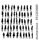 vector set of 55 standing girls ... | Shutterstock .eps vector #551202880